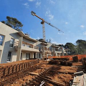 Avancement du chantier Couleur Valbonne à Valbonne